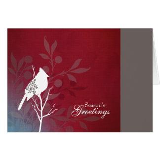 Hochrote Kardinals-Feiertags-Anmerkungs-Karte Grußkarte