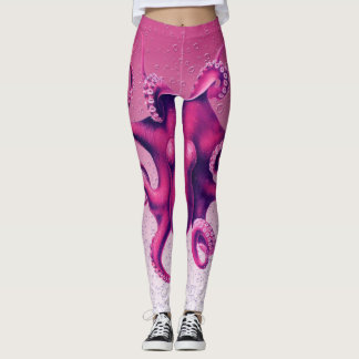 hochrote Krake Leggings