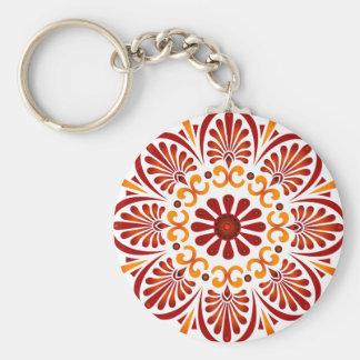 Hochrote Mandala Keychain Schlüsselanhänger