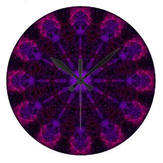 Hochrote Mandala-Uhr Große Wanduhr