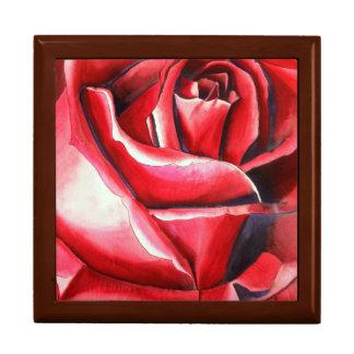 Hochrote Rote Rose ursprüngliche Erinnerungskiste