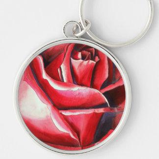 Hochrote Rote Rose ursprüngliche Schlüsselanhänger