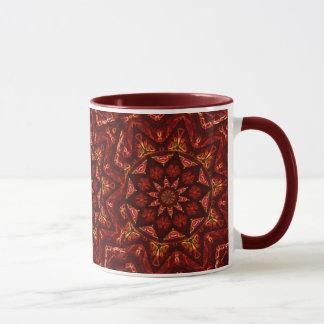 Hochrote Sternmandala-Tasse Tasse