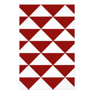 Hochrote und weiße Dreiecke Briefpapier