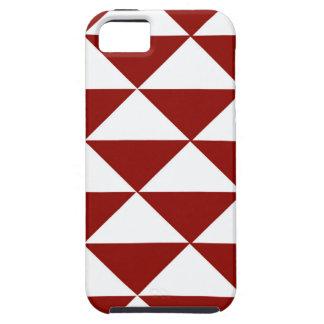 Hochrote und weiße Dreiecke iPhone 5 Etuis