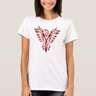 Hochrotes Phoenix-Steigen T-Shirt
