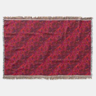 Hochrotes Rot-Kubismus-Würfel-Muster-Kunst Decke
