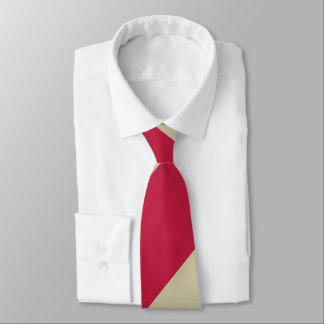 Hochrotes und blasses Goldbreiter Bedruckte Krawatten