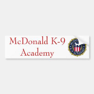 HochschulAutoaufkleber 01 McDonald K-9 Autoaufkleber