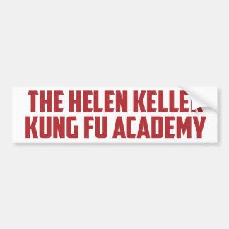 Hochschullustiger Autoaufkleber Helens Keller Kung
