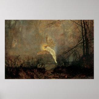 Hochsommer-Nacht, Grimshaw, Vintage viktorianische Poster