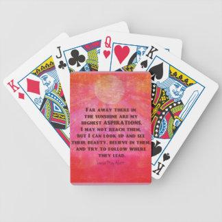 Höchstes Aspirationszitat Louisa kann Alcott Bicycle Spielkarten
