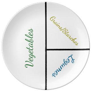 Höchstgewicht-Verlust-Platte (Porzellan) Teller