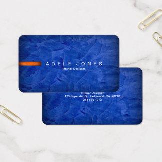 Hochwertige elegante blaue und orange Visitenkarte