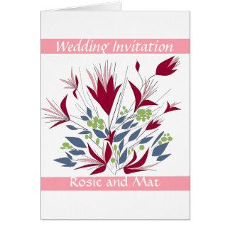 Hochzeit Annoucement /Invitation Karte