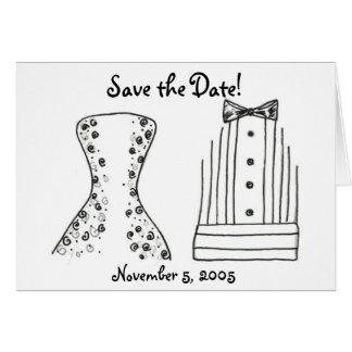 Hochzeit, Braut, Bräutigam, Save the Date Karte