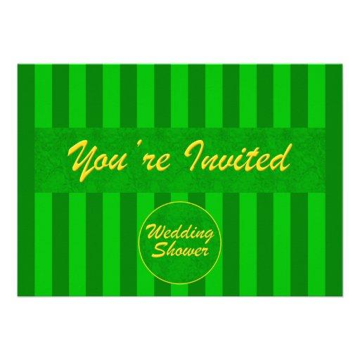 Hochzeit-Brautduschen-Einladung im Grün