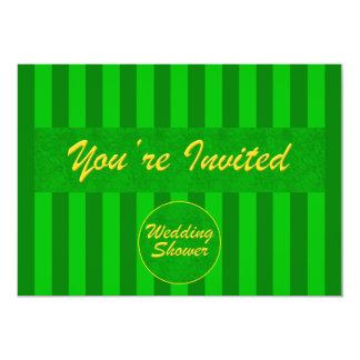 Hochzeit-Brautduschen-Einladung im Grün 12,7 X 17,8 Cm Einladungskarte