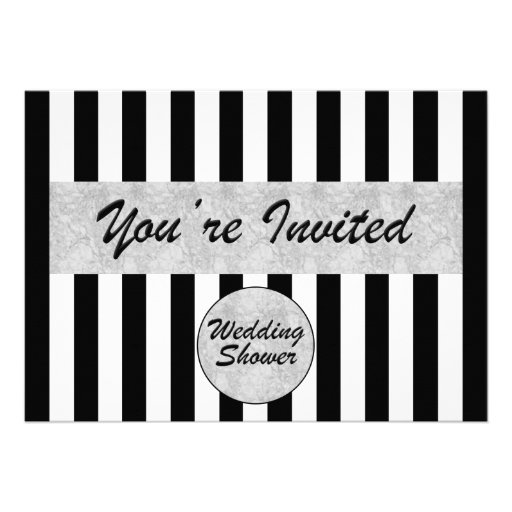 Hochzeit-Brautduschen-Einladung in Schwarz-weißem