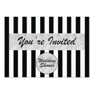 Hochzeit-Brautduschen-Einladung in Schwarz-weißem 12,7 X 17,8 Cm Einladungskarte