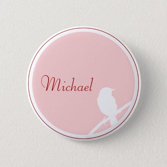 Hochzeit Button als Tischkarte (rosa rot)