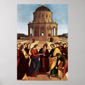 Hochzeit der Jungfrau durch Raffael Poster