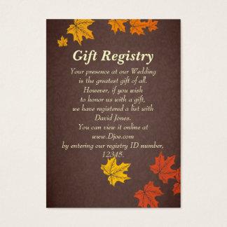 Hochzeit im Herbst Geschenkladen Karten