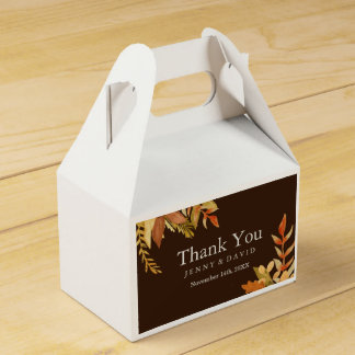 Hochzeit im Herbsts-Bevorzugungs-Kasten Geschenkschachtel