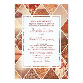 Hochzeit im Herbsts-Einladung der Herbst-Diamant-| 12,7 X 17,8 Cm Einladungskarte