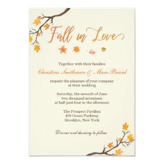 Hochzeit im Herbsts-Einladungen - Fall in Liebe 12,7 X 17,8 Cm Einladungskarte