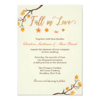 Hochzeit im Herbsts-Einladungen - Fall in Liebe Karte