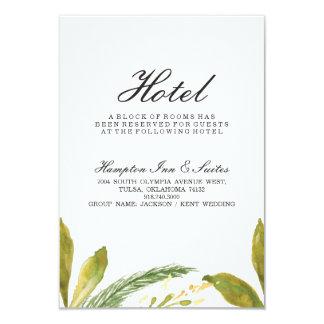 Hochzeit im Herbsts-Hotel-Karte - rustikales 8,9 X 12,7 Cm Einladungskarte