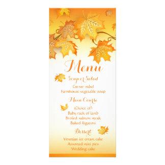 Hochzeit im Herbsts-Menü-orange Herbst-Blätter Werbekarte
