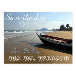 Hochzeit in Urlaubsort Save the Date Postkarte