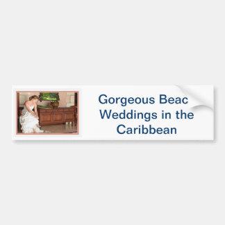 Hochzeit in Urlaubsorts-Einladungen Auto Aufkleber