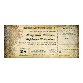 Hochzeit in Urlaubsortskarten mit UAWG 10,2 X 23,5 Cm Einladungskarte