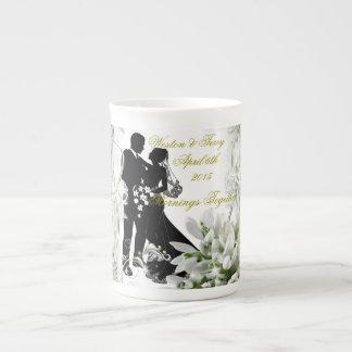 Hochzeit, Morgen u. Espresso zusammen Porzellan-Tasse