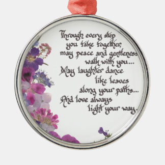 Hochzeit oder Verlobungs-Geschenk Silbernes Ornament
