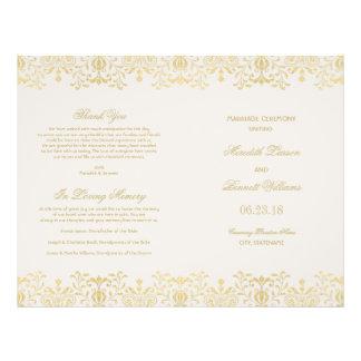 Hochzeit programmiert | GoldVintagen Glamour Personalisierte Flyer