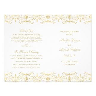 Hochzeit programmiert | GoldVintagen Glamour Individuelle Flyer