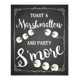 Hochzeit s'more Zeichen-Party s'more Tafel Kunstphotos