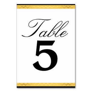 Hochzeit Tablecard, das schwarzes Imitat-Gold Karte