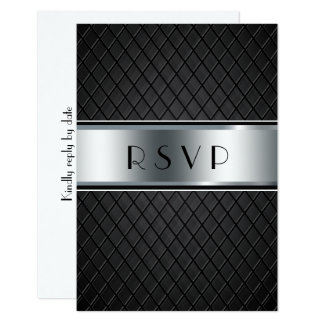 Hochzeit UAWG Karten, elegantes Schwarzes und Karte