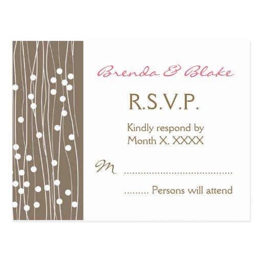 Hochzeit UAWG Postkarte - Bio Punkte und Linien