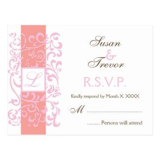 Hochzeit UAWG Postkarte - Monogramm-Rebe