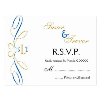 Hochzeit UAWG Postkarte - Monogramm-Skript