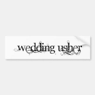 Hochzeit Usher Autoaufkleber