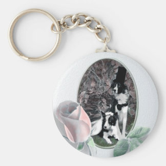 Hochzeit verfolgt Keychain Standard Runder Schlüsselanhänger