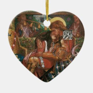 Hochzeit von St George, Prinzessin Sabra durch Keramik Ornament