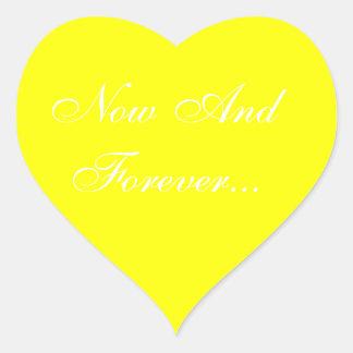 Hochzeiten laden Gelb ein Herz-Aufkleber